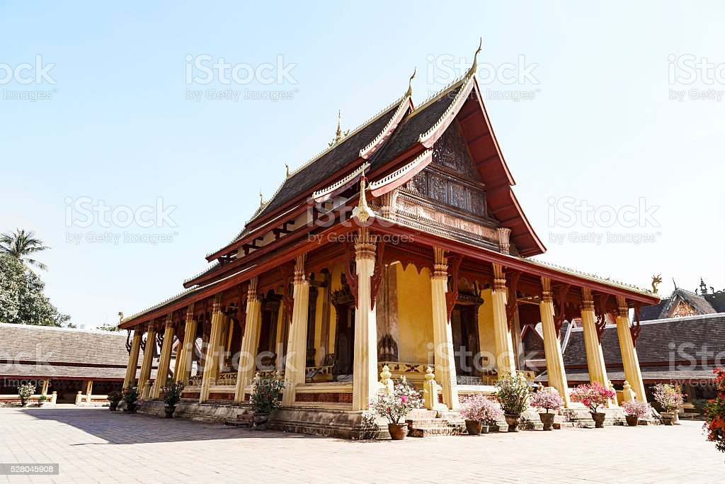 Wat Si Saket, Buddish temple in Vientiane Laos stock photo