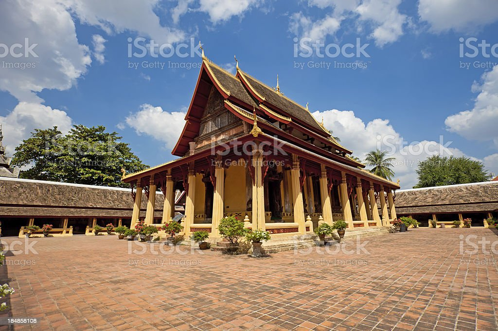 Wat Si Saket in Vientiane, Laos stock photo