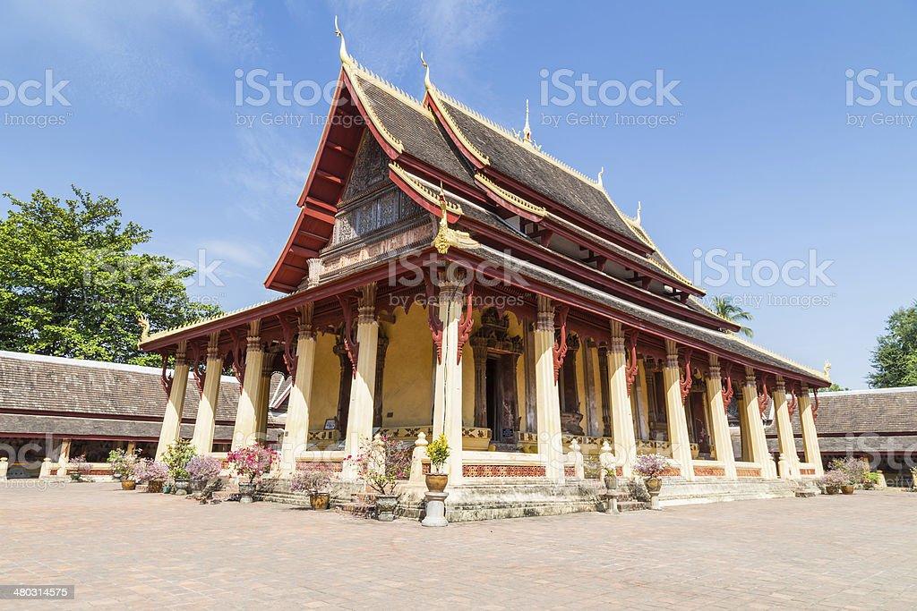 Wat Si Saket in Vientiane Laos stock photo