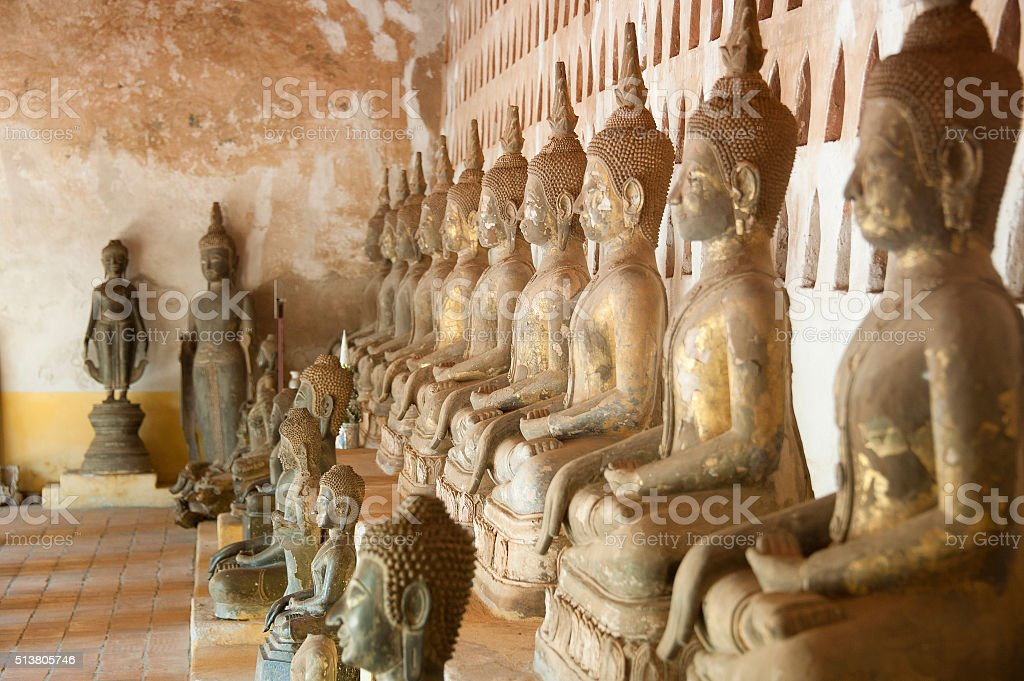 Wat Si Saket in Vientiane stock photo