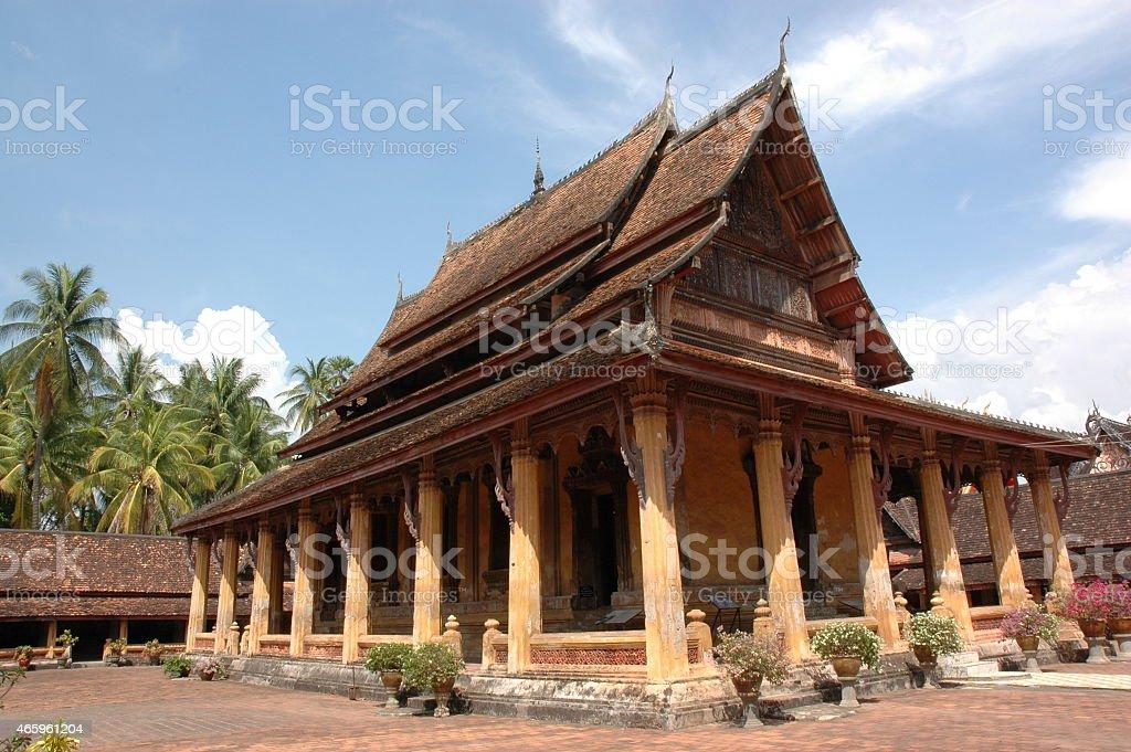 Wat Si Saket Temple stock photo
