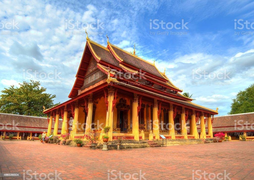 Wat Si Saket Vientiane Laos in HDR stock photo