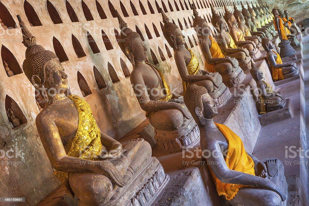 Wat Sisaket Buddha statues. stock photo