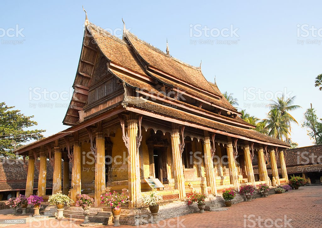 Wat Sisaket, Vientiane, Laos stock photo