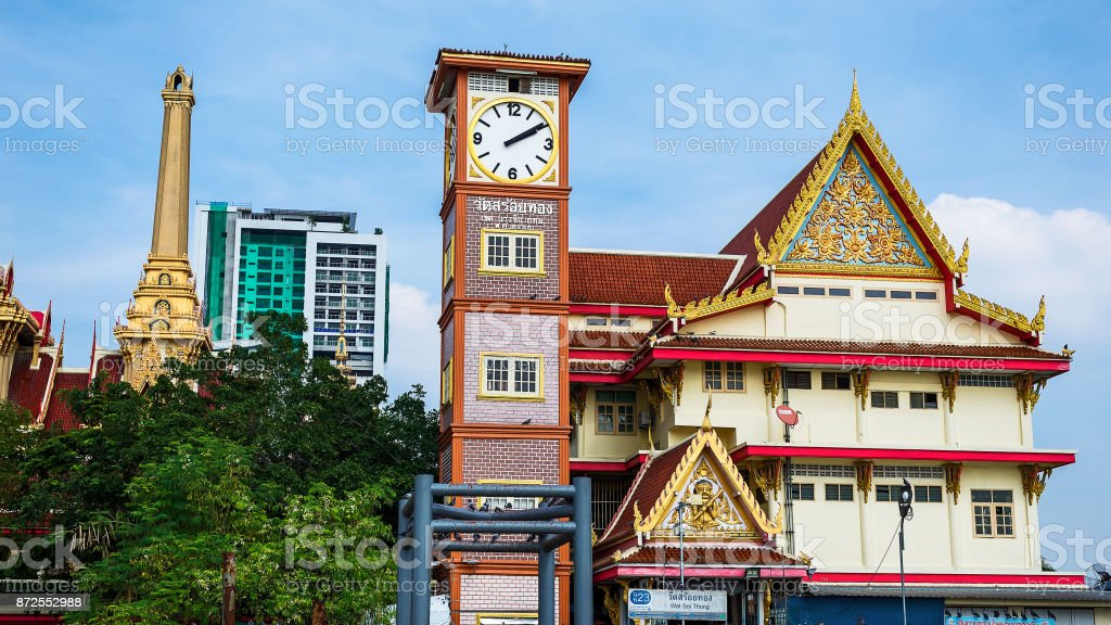 Wat Soi Thong in Bangkok, Thailand. stock photo