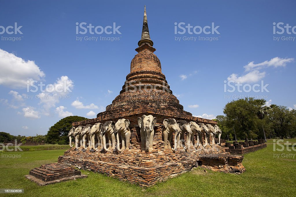 wat sorasak sukhothai historical park thailand stock photo