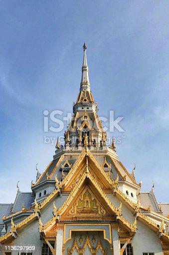 Wat Sothon Wararam Worawihan, The Buddhist Temple at Chachoengsao in Thailand.