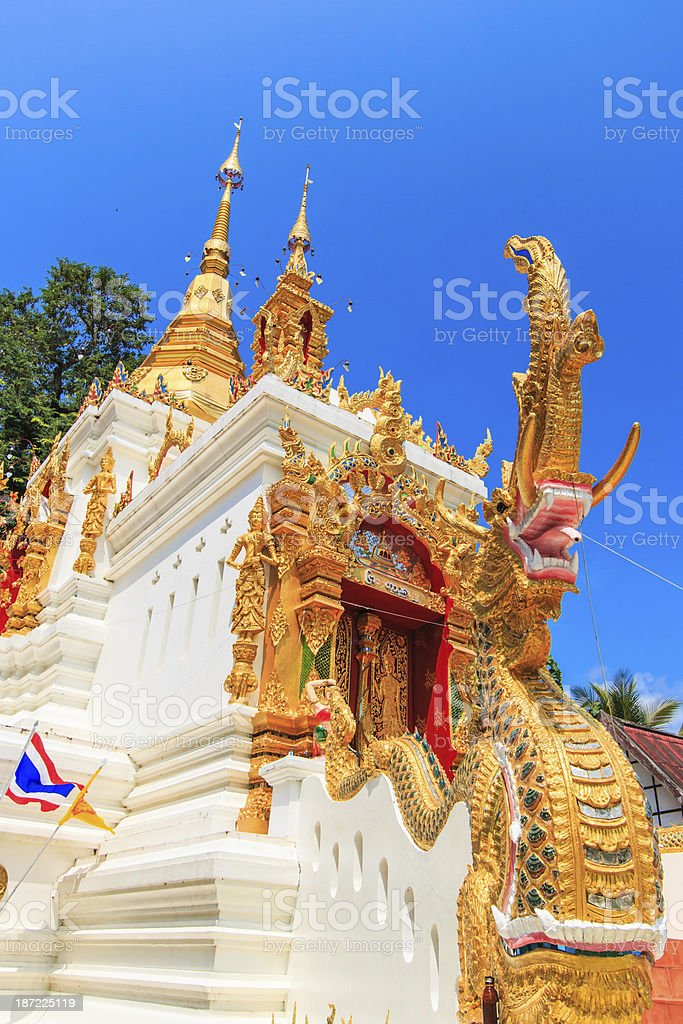 Wat Temple in Mae Chaem District Chiang Mai Thailand royalty-free stock photo
