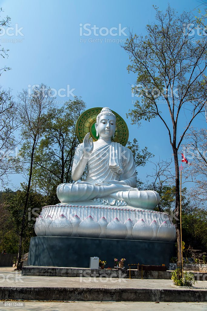 Wat Tham Pha Chom stock photo