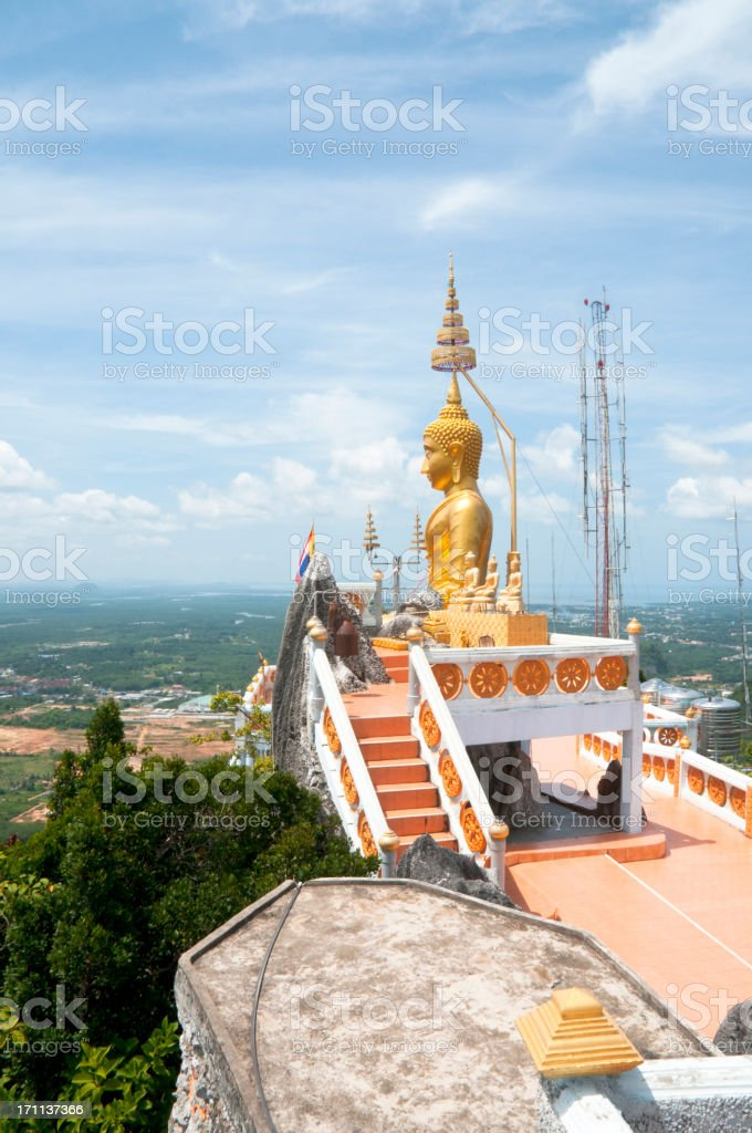 Wat Tham Sua (Tiger Cave Temple) In Krabi, Thailand royalty-free stock photo