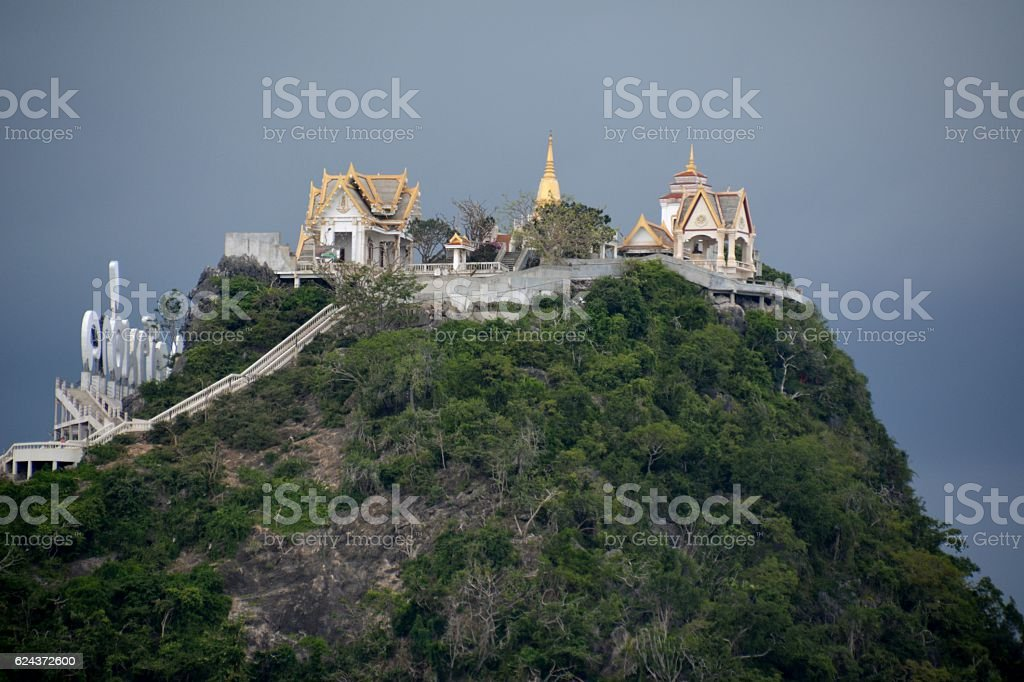 Wat Thammikaram hill, Prachuap Khiri Khan, Thailand stock photo