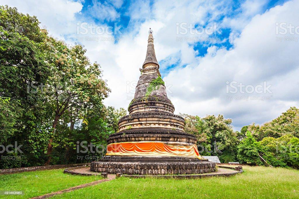 Wat Umong stock photo