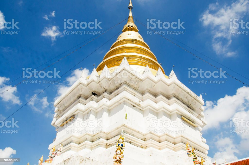 Wat Wachirathammasatit or wat thung satit temple in Bangkok, Thailand foto stock royalty-free