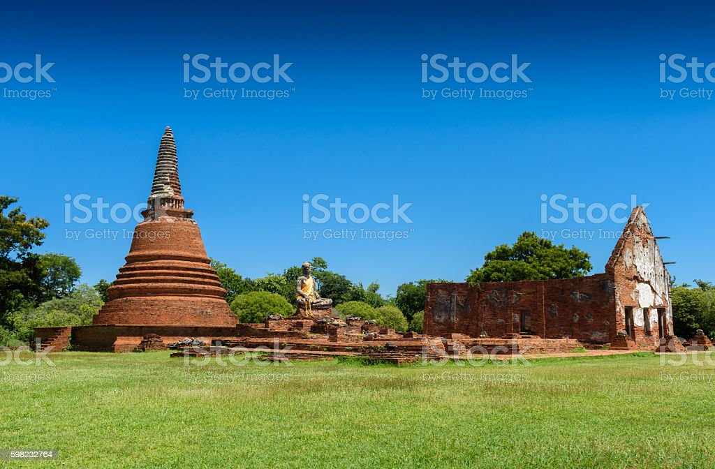 Wat Worrachettharam The measurement is important temple in Ayutt foto royalty-free