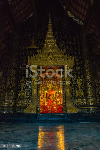 Wat Xieng Thong, a famous temple in Luang Pra Bang, Laos.