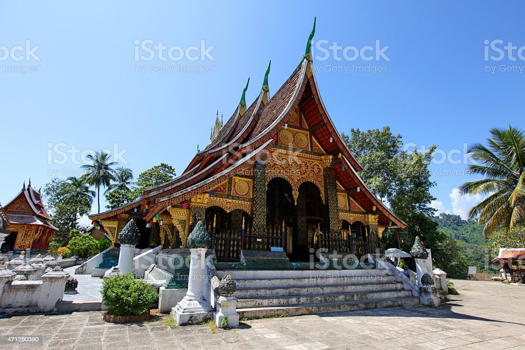 Wat xieng thong - pearl of Luang Prabang stock photo