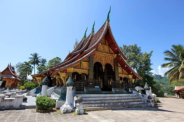 Wat xieng thong - pearl of Luang Prabang stock photo