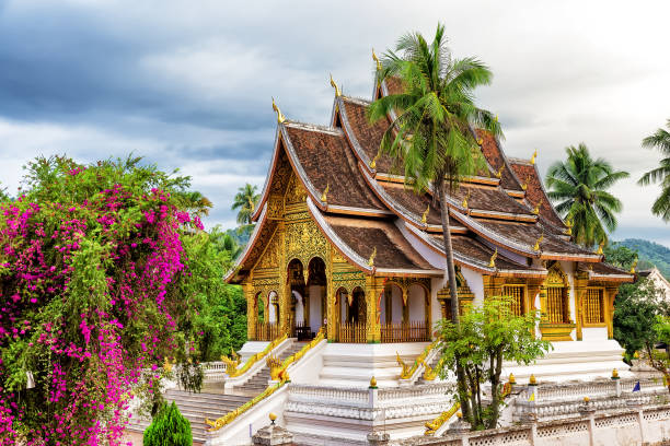 Wat Xieng thong temple,Luang Pra bang, Laos stock photo