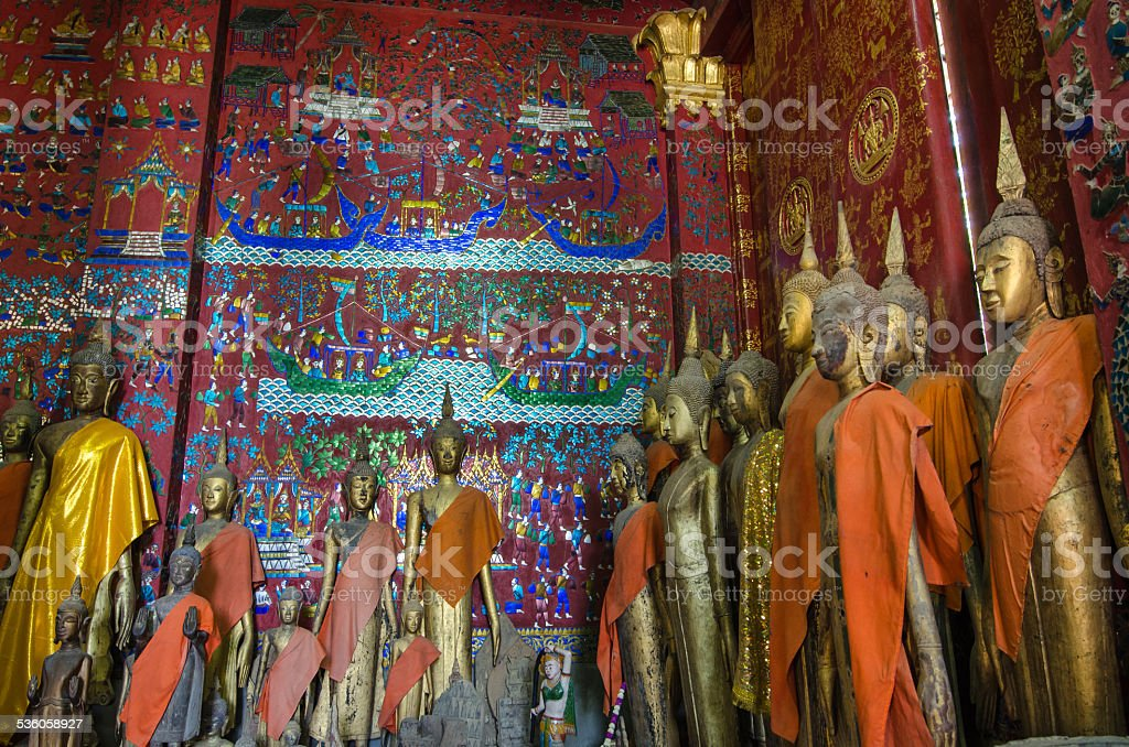 Wat XiengThong Temple in Luang Prabang, Laos stock photo