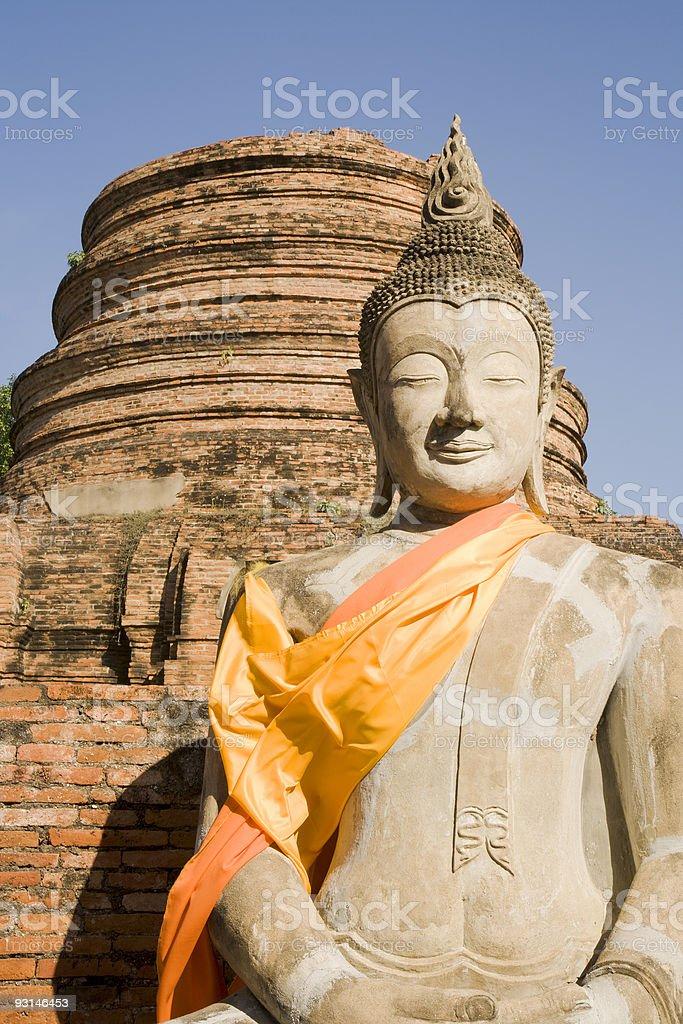 Wat Yai Chai Budddha royalty-free stock photo
