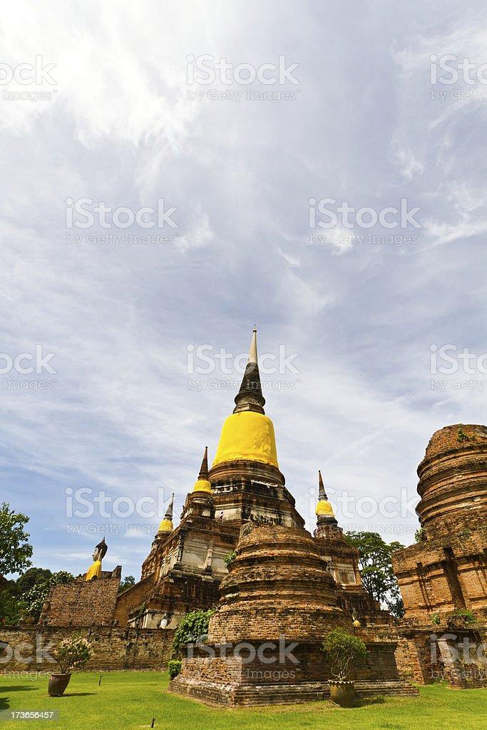 Wat Yai Chai Mongkol in Ayutthaya, Thailand stock photo
