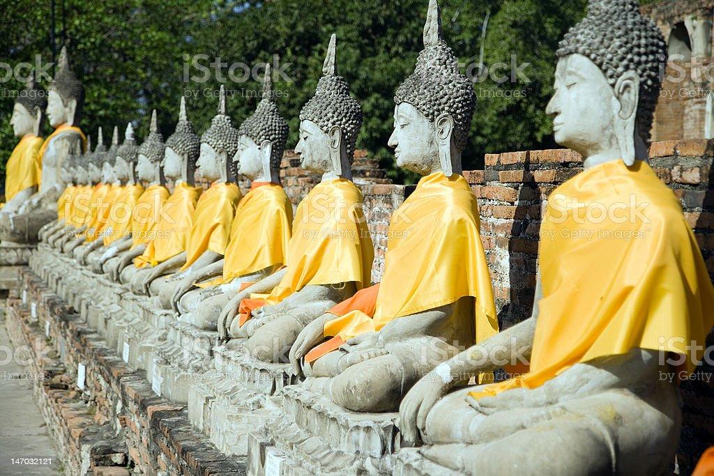Wat Yai Chai Mongkol stock photo
