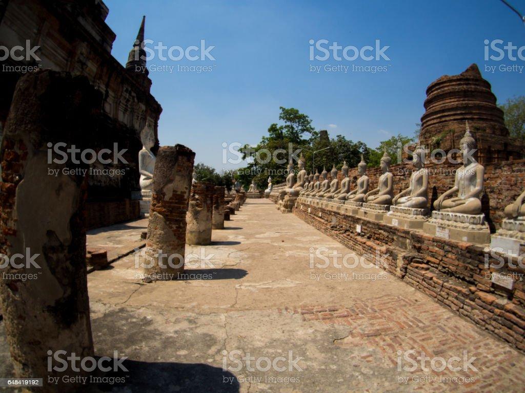 Wat Yai Chaimngkol, Ayutthaya, Thailand stock photo