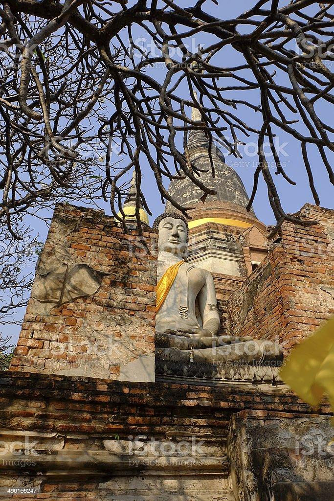 Wat Yai Chai-mongkol stock photo
