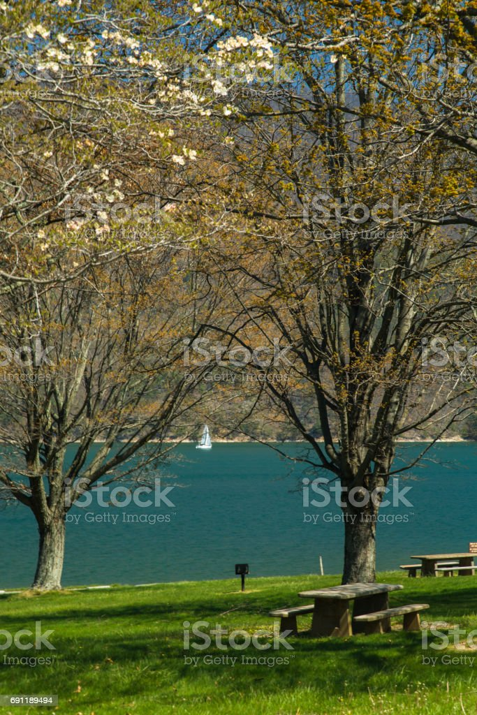 Wataga Lake, Early Spring, East Tennessee stock photo