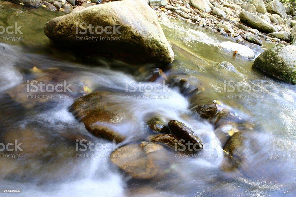 Watauga River blurry flow royalty-free stock photo