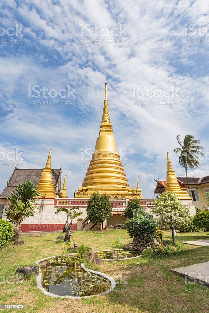 Wat-bot-meuang Temple, Chanthaburi, Thailand stock photo