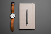 Watch and notebook with pen