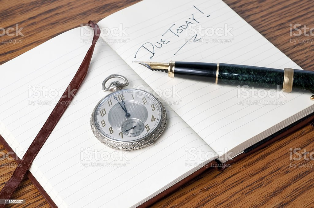 Watch and Pen royalty-free stock photo