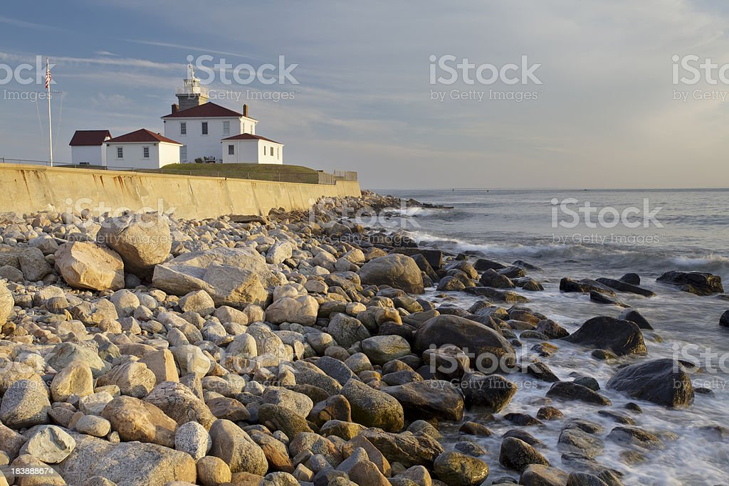 Watch Hill Lighthouse stock photo