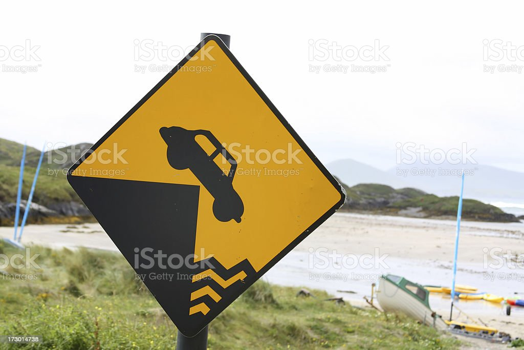 'Watch out' car road sign royalty-free stock photo