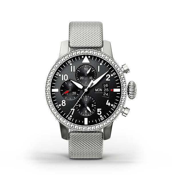 watch modern watch isolated on a white background luxury watch stock pictures, royalty-free photos & images