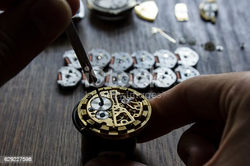 istock Watch repair 629227598