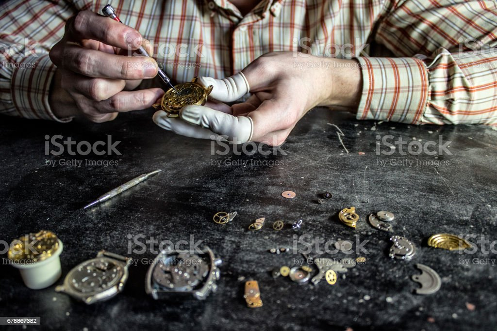 Watch repair photo libre de droits