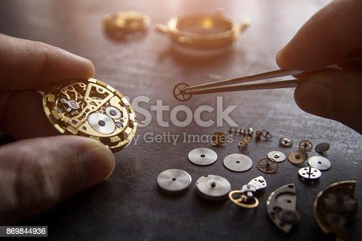 istock Watch repair 869844936