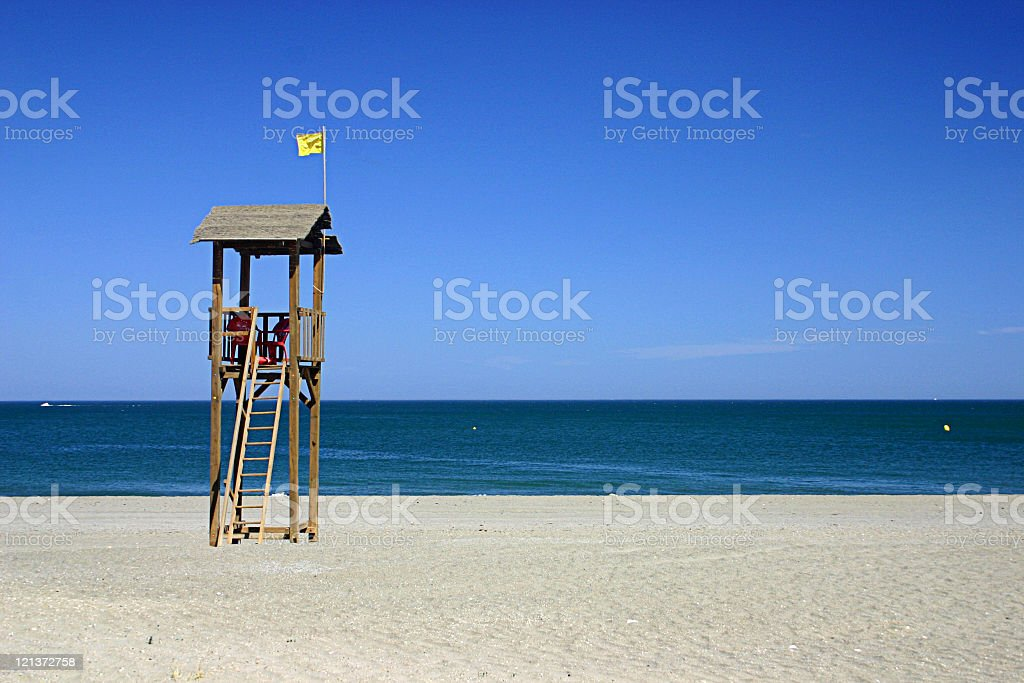 Watch tower at the beach royalty-free stock photo