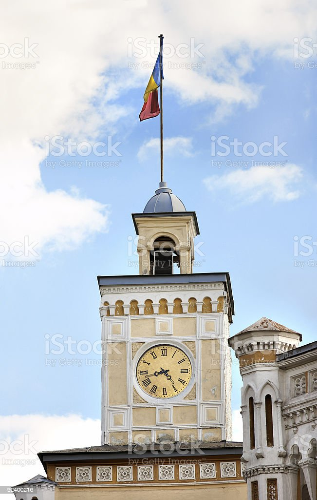 Watch tower in Chisinau stock photo