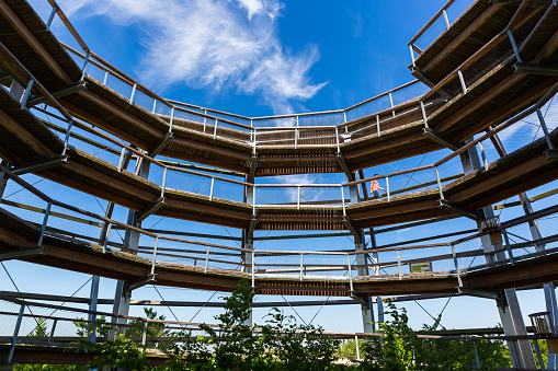 watch tower of the canopy pathway on Ruegen, Germany
