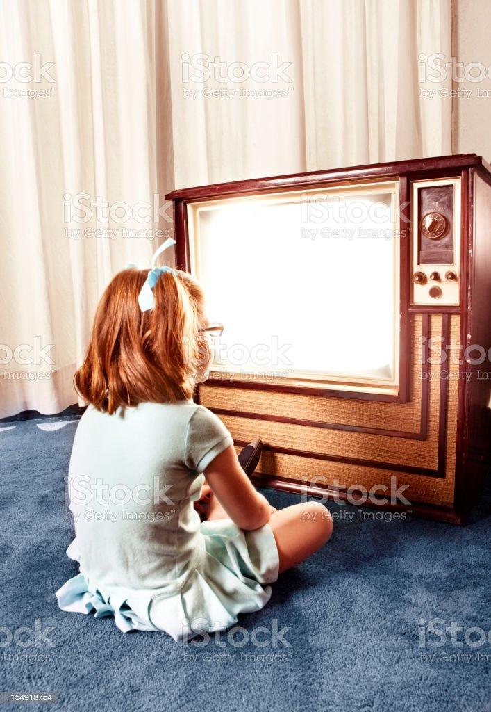 Watch TV stock photo