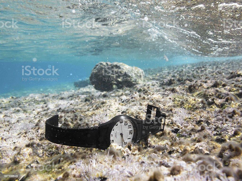 Watch Under Water stock photo