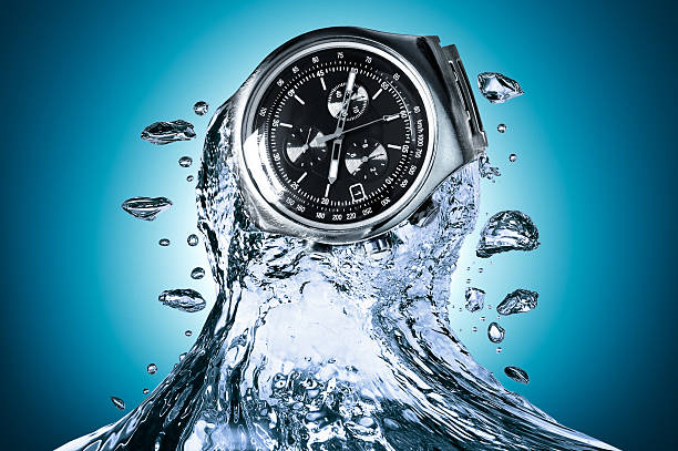 Watch water resistant stock photo