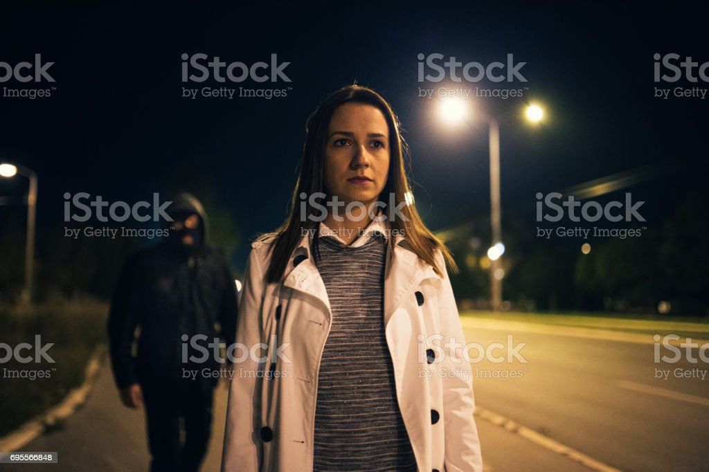 Watch your back stock photo
