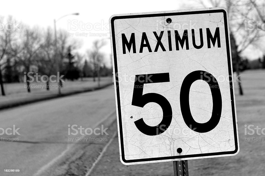 Watch Your Speed! royalty-free stock photo