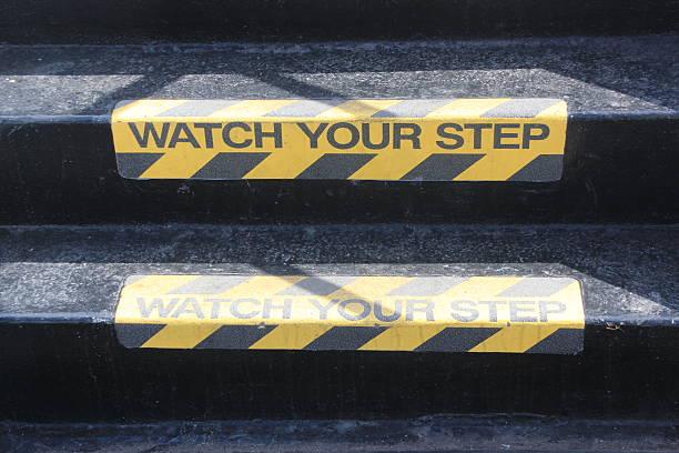Sehen Sie sich Ihren Schritt auf der Treppe – Foto