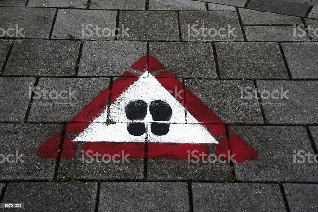 Watch your steps royalty-free stock photo