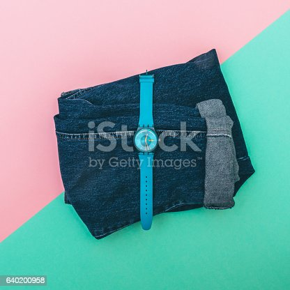 640200626istockphoto watches with jeans. 640200958